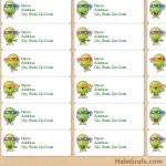 FREE Printable TMNT Ninja Turtle Address Labels