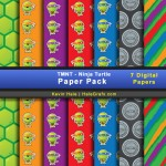 FREE TMNT Ninja Turtles Digital Paper Pack