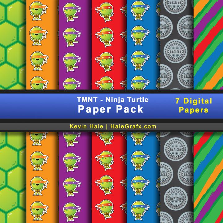 FREE TMNT Ninja Turtles Digital Paper Pack