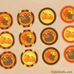 FREE Printable Thanksgiving Cupcake Toppers