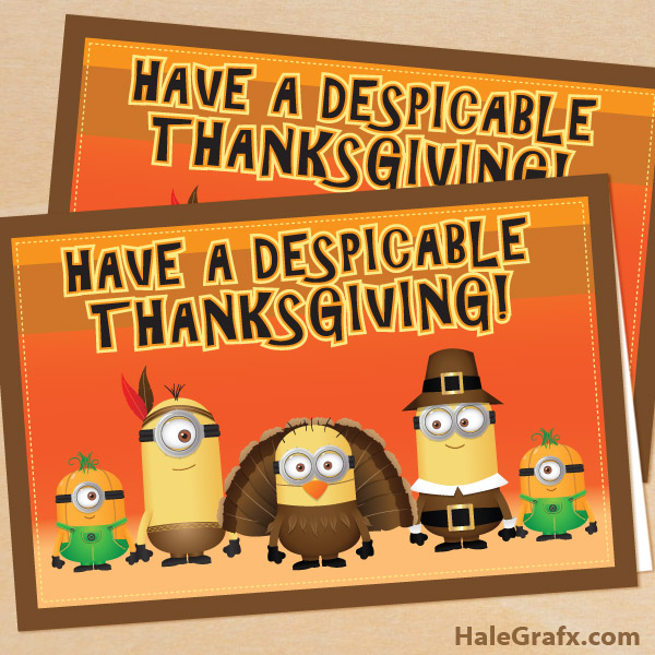 FREE Despicable Me Thanksgiving Card