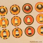 FREE Printable Despicable Me Thanksgiving Cupcake Toppers