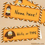 FREE Printable Despicable Me Thanksgiving Place Cards