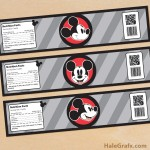 FREE Printable Vintage Mickey Mouse Water Bottle Labels