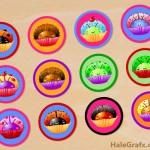 FREE Printable Cupcake Ladybug Digital Collage Sheet