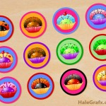 FREE Printable Cupcake Ladybug Digital Collage Sheet