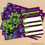 FREE Printable Incredible Hulk Birthday Invitation