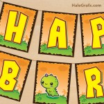FREE Printable Kawaii Dinosaur Birthday Banner