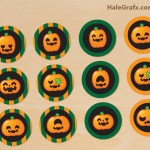 FREE Printable Halloween Pumpkin Cupcake Toppers