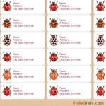 FREE Printable ladybug Species Address Labels