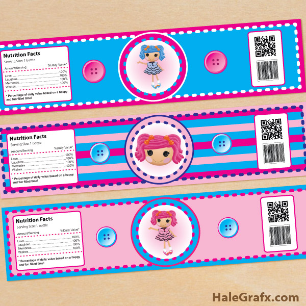 FREE Printable Lalaloopsy Water Bottle Labels