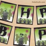 FREE Printable LEGO Zombie Birthday Banner