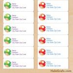 FREE Super Mario Mushroom Address Labels