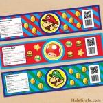 FREE Printable Super Mario Bros. Water Bottle Labels