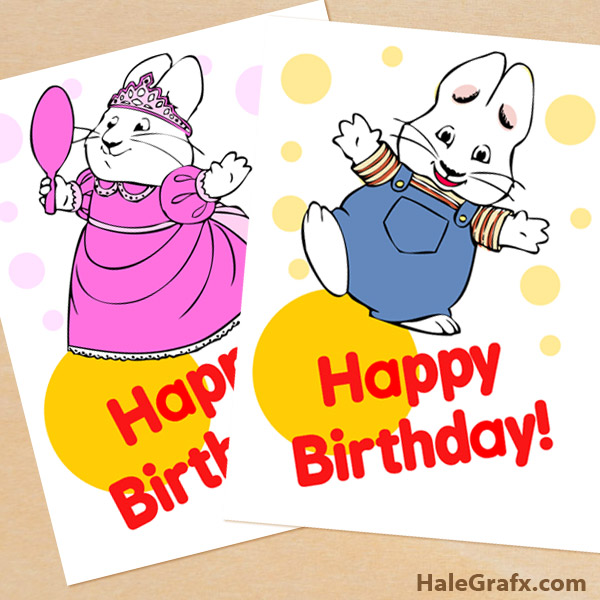 FREE Printable Max and Ruby Birthday Posters