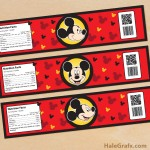 FREE Printable Mickey Mouse Water Bottle Labels