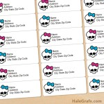 FREE Printable Monster High Address Labels