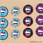 FREE Printable Monster High Cupcake Toppers