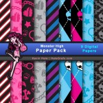 FREE Monster High Digital Paper Pack
