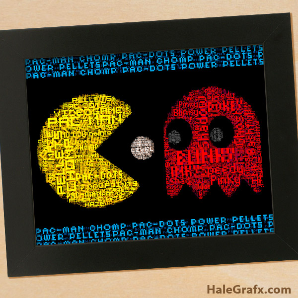 Free Printable Pac Man Word Art