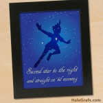 FREE Printable 8×10 Peter Pan Quote Poster