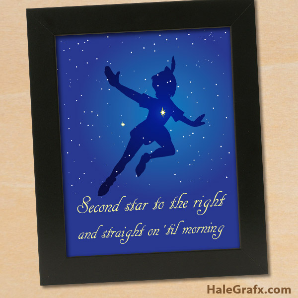 free printable 8 10 peter pan quote poster