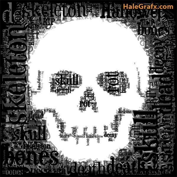 skull-word-art