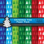 FREE Christmas Trees Digital Paper Pack
