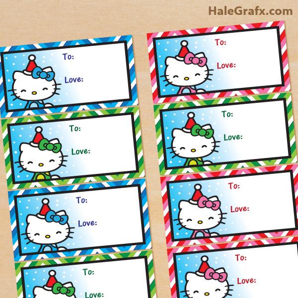 Hello kitty xmas tags FREE Printable Christmas Hello Kitty Gift Tags