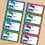 FREE Printable Christmas Monster High Gift Tags