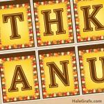 FREE Printable Thanksgiving Banner Set
