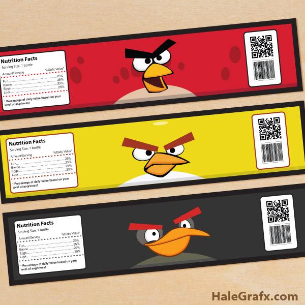 Water Bottle Zelda: FREE Printable Angry Birds Water Bottle Labels