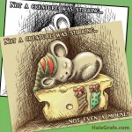 FREE Printable Christmas Mouse Art and Coloring Page