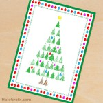 FREE Printable Christmas Tree Greeting Card and 8×10 Print