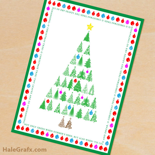 FREE Printable Christmas Tree Greeting Card and 8x10 Print