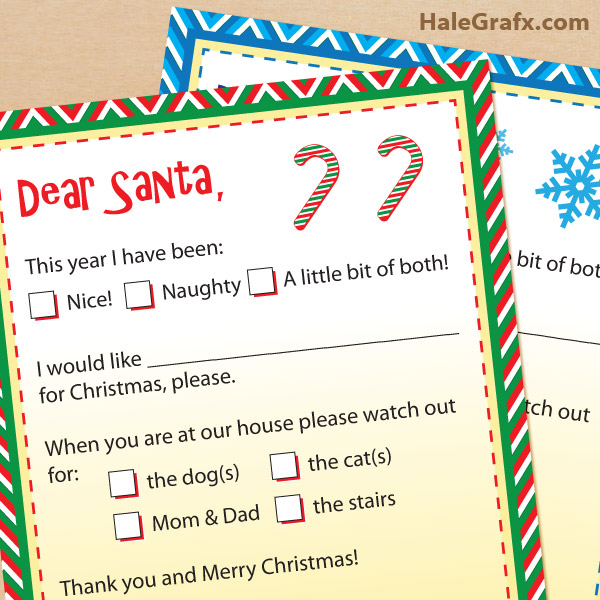 Printable Letters to Santa Claus