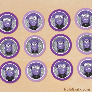 Free printable evil minion cupcake toppers