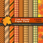 FREE Fall Autumn Digital Paper Pack