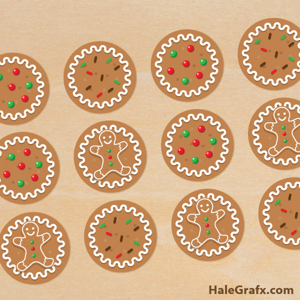 FREE Printable Christmas Gingerbread Cupcake Toppers