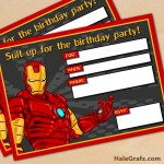 FREE Printable Avengers Iron Man Birthday Invitation