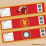 FREE Printable Iron Man Water Bottle Labels