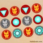 FREE Printable Avengers Iron Man Cupcake Toppers