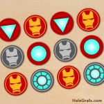 FREE Printable Avengers Iron Man Cupcake Toppers