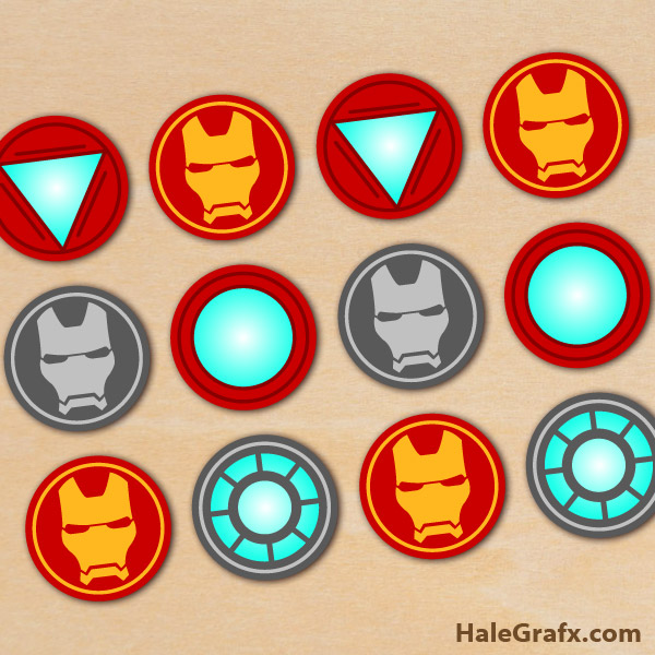 photograph relating to Iron Man Printable titled Totally free Printable Avengers Iron Male Cupcake Toppers