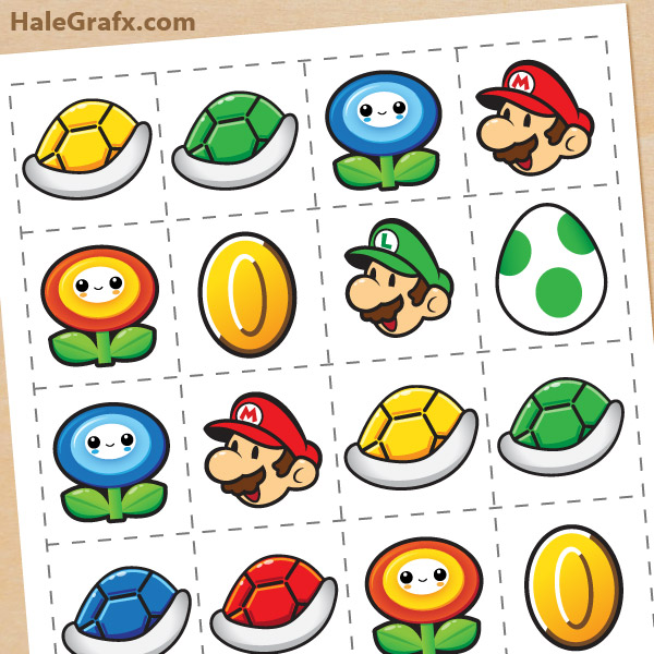 graphic regarding Printable Memory Game named Totally free Printable Tremendous Mario Bros. Memory Match