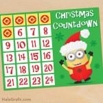 FREE Printable Minion Christmas Countdown Activity
