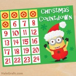 FREE Printable Minion Christmas Countdown Activity