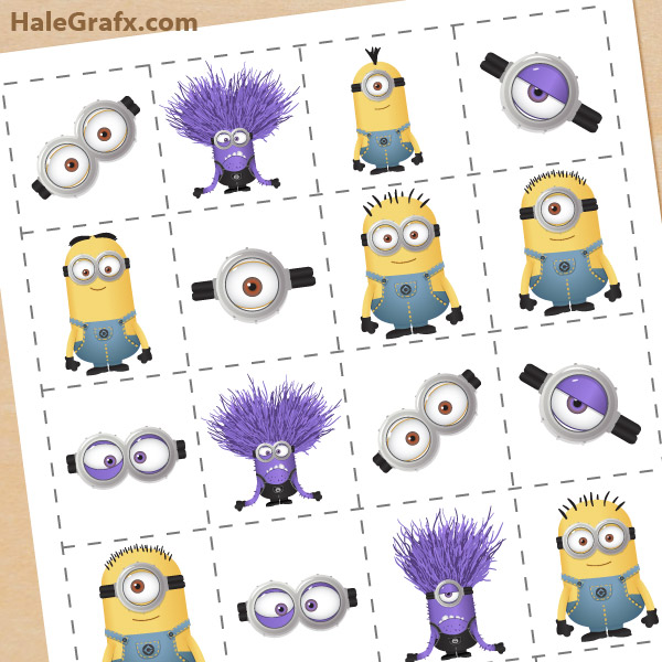 photograph about Printable Memory Game referred to as Free of charge Printable Despicable Me 2 Minions Memory Recreation