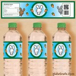 FREE Printable Kawaii Bunny Water Bottle Labels