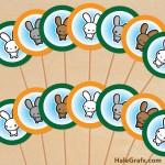 FREE Printable Kawaii Bunny Cupcake Toppers